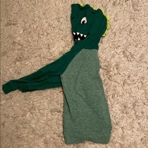 A youth hooded dinosaur shirt
